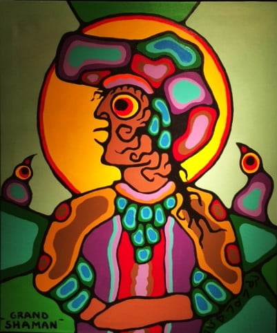 Sold - Norval Morrisseau - Grand Shaman