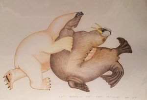 Kananginak Original Polar Bear And Walrus
